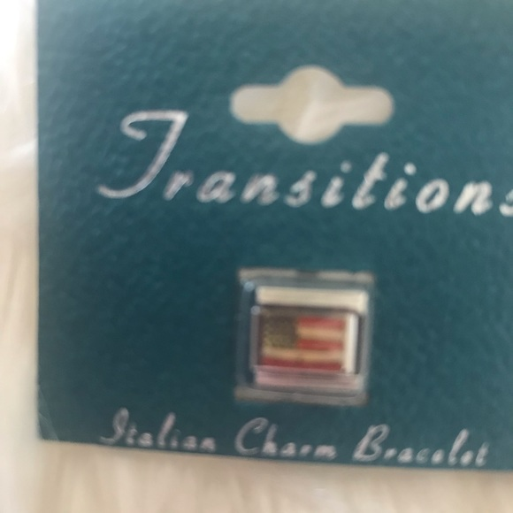 New Transitions Italian charm with American flag